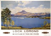 Maid of the Loch, Loch Lomond, Stirlingshire & Dunbartonshire. BR (SR) Vintage Travel Poster 1959